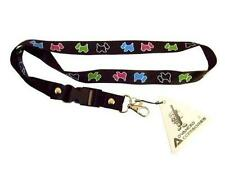 Téléphone mobile / carte d'identité Lanière Courroie de cou noir avec motif chien