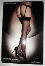 ANN SUMMERS SMOOTH TOP SEAMED GLOSSY STOCKINGS (SIZE SMALL / MEDIUM)