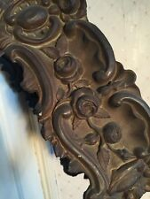 Antique French Tole Ware Pressed Brass Flower Border Freeze Window Bed Pelmet