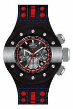 Invicta S1 Rally Chronograph Black Dial Black Leather Mens Watch 19174