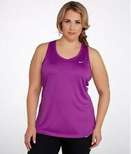 Womens NIKE DRI-FIT Miler  PLUS Size 1X  NEW  18 20 Tank Top Purple Dusk
