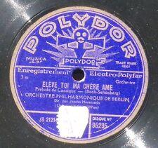 Bach-Schönberg Horenstein  2 préludes de cantique 78 RPM Polydor France 95295