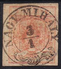 Austria 1850 3kr, MP, Type III. well margins. NAGY MIHÁLY cancellation.