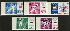 RUSSIA USSR #2843-2847 Mint, Hinged IMPERFORATE 1964 OLYMPICS