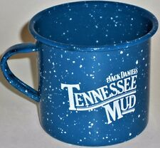 Jack Daniels Tennessee Mud Cup Enamelware Coffee Blue Old Style Camping Tin Mug