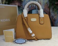 NWT MICHAEL KORS SAFFIANO SMALL Satchel Crossbody Leather Handbag In ACORN $268