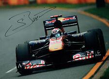Sebastien BUEMI Signed Autograph 16x12 Red Bull Toro ROSSO F1 Photo AFTAL COA