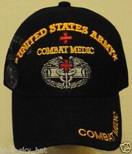 LICENSED U.S. ARMY EMT PARAMEDIC COMBAT MEDIC MEDICAL CARE FIRST AID CAP HAT BLK