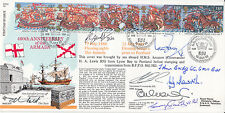 RFDC65 & 5RN11 400th Anniv of the Armada FDC Signed 8, Victoria Cross,GC,DSO,DSO