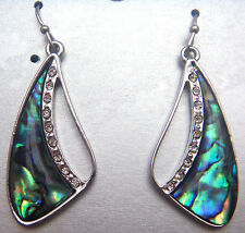 PAUA Shell abalone Nature's 1 Earrings Free Form Wheeler Mfg WME 208 NEW