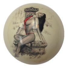 Pool/Billiards Custom Cue Ball Red Bikini Casket Girl Pin-Up Great Gift!