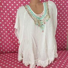 VICTORIA'S SECRET Open Plunge Tunic Caftan Bling Swim Bikini Cover Up Dress XS/S