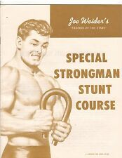 Joe Weider Bodybuilding Special Strongman Stunts Course 1959 brown color booklet