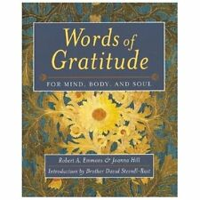 Words of Gratitude for Mind, Body and Soul by Robert A. Emmons and Joanna...