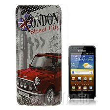 Samsung I9070 CUSTODIA Galaxy S Advance Cover Rigida LONDON con PELLICOLA