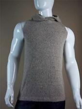 $910 Rick Owens Hooded Sweater Sleeveless Small S Hoodie Vest Mountain New Wool