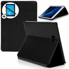 Black Clam Shell Smart Case Cover Samsung Galaxy Tab A 10.1 Screen Prot & Stylus