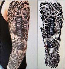 BRACCIO COMPLETO ADESIVI Maniche Tatuaggio Temporaneo Body Art Tatuaggio 3D IMPERMEABILE