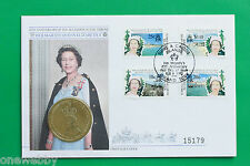 1992 - Turks & Caicos - 40th Anniversary - Crown Coin Cover & Stamps - SNo39260