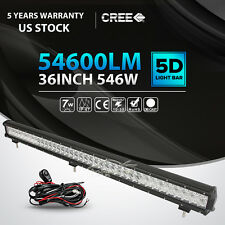 6D 36INCH 546W LED LIGHT BAR SPOT FLOOD OFFROAD LAMP 4WD TRACTOR CAR 42""