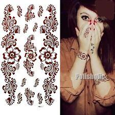 1 Sheet Chic Paisley Mehndi Temporary Tattoo Decals Henna Art Waterproof Paper