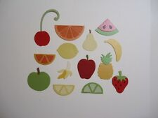 FRUIT SALAD EMBELLISHMENTS DIE CUTS SCRAPBOOKING BANANA APPLE PEAR WATERMELON