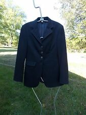EURO-STAR DRESSAGE SHOW COAT LADIES NAVY BLUE SEE MEASUREMENTS USED