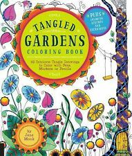 Tangled Gardens Coloring Book: 52 Intricate Tangle Drawings to Color with Pens,