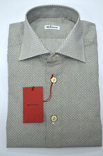 NEW 2016 KITON SHIRT 100% COTTON  15.5 US 39 EU 509607