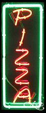 """BRAND NEW """"PIZZA"""" VERTICAL 32x13 BORDER REAL NEON SIGN w/CUSTOM OPTIONS 11019"""