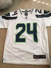 Youth S Seattle Seahawks Marshawn Lynch Nike White Game Jersey