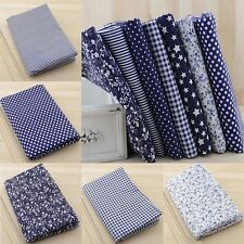 "7PCS Pre Cut Charm Cotton Quilt Fabric 19.7"" Fat Quarters Bundles High Quality"