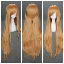 Long Light Blonde Sword Art Online Asuna Yuuki Anime Fashion Cosplay Party Wig