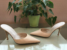 Ladies Russell & Bromley P. Verdi ivory all leather slip on mules UK 4 EU 37