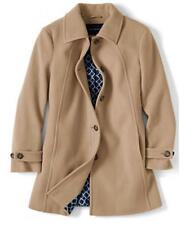 Womens LANDS END Luxe Wool Swing Coat Plus Size 24W NWT warm Camel