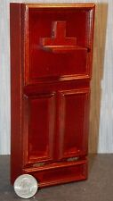 Dollhouse Miniature Single Murphy Bed Mahogany Folds Up  1:12 one inch scale D56
