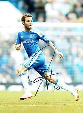 Juan MATA SIGNED Autograph CHELSEA FC 16x12 Photo AFTAL Premier League Winner