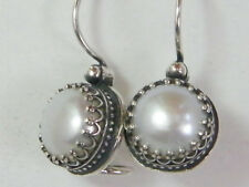 E01582SP SHABLOOL ISRAEL Didae Handcrafted FW Pearl Sterling Silver 925 Earrings