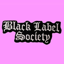 Black Label Society BLS Heavy Metal Rock Music Biker Iron On Embroidered Patch