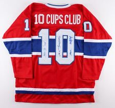 Henri Richard, Jean Beliveau & Yvan Cournoyer Signed Montreal Canadiens Jersey