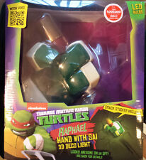 TMNT Teenage Mutant Ninja Turtles Raphael Hand with Sai 3D Deco Night Light LED