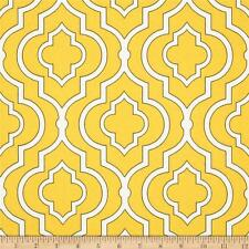 Outdoor Fabric For Garden Furniture - GEOMETRIC - By the Yard - Yellow