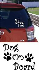 DOG ON BOARD Car Bumper Sticker Decal vinyl DOG PAW