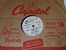 "BOB EBERLY Never/ Don't Take Your Love From Me 10"" PROMO 78 Capitol 1768 VG+"