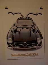 Vintage Clemorth 1981 poster   300 SL  Gullwing    auto  car