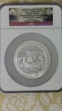2014 china smithsonian institution offical 5oz panda ngc PF69 medal silver coin