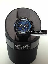 Citizen Eco Drive Ecosphere Chronograph Men's Watch CA4155-12L NWT IN BOX