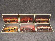 (6) 1980 Chevrolet Car Postcards Corvette Caprice Monte Carlo Chevette Malibu