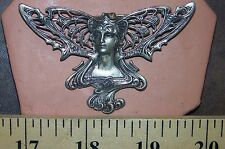 NOUVEAU GODDESS POLYMER CLAY PUSH MOLD FROM ANTIQUE JEWELRY casting