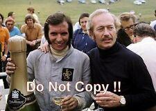 Emerson Fittipaldi & Colin Chapman JPS Lotus British Grand Prix 1972 Photograph